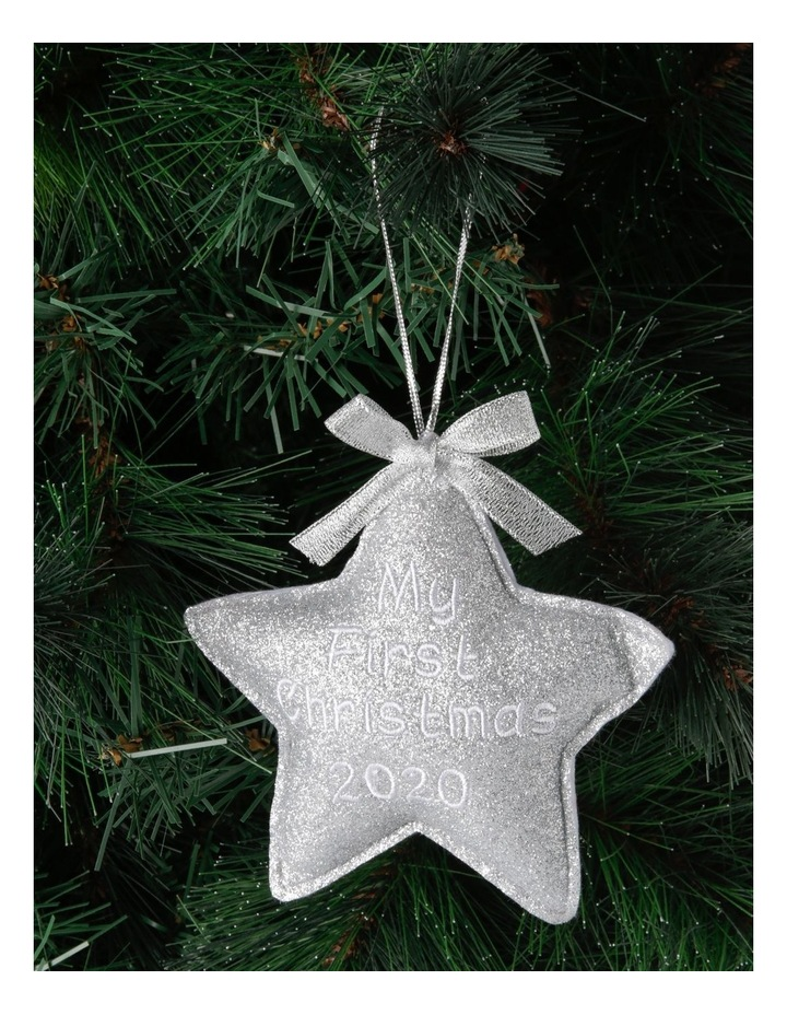 Merry & Bright 'Baby's First' Fabric Star Hanging Ornament image 3