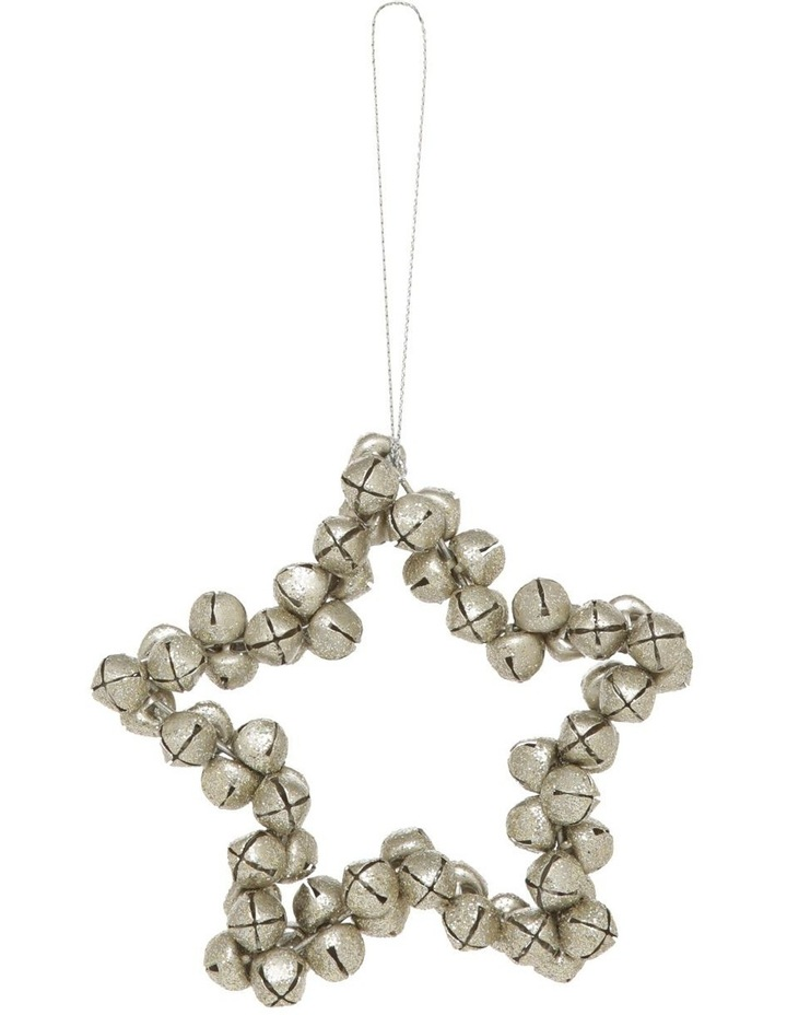 Eucalyptus Silver-Tone Bell Star image 1