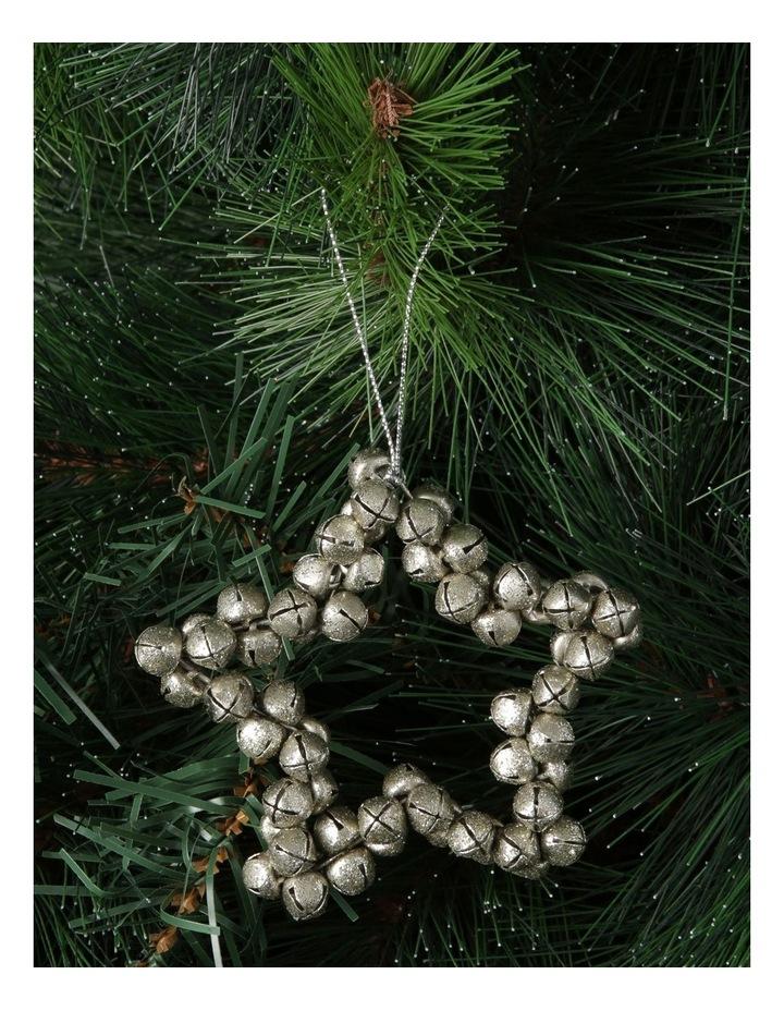 Eucalyptus Silver-Tone Bell Star image 2