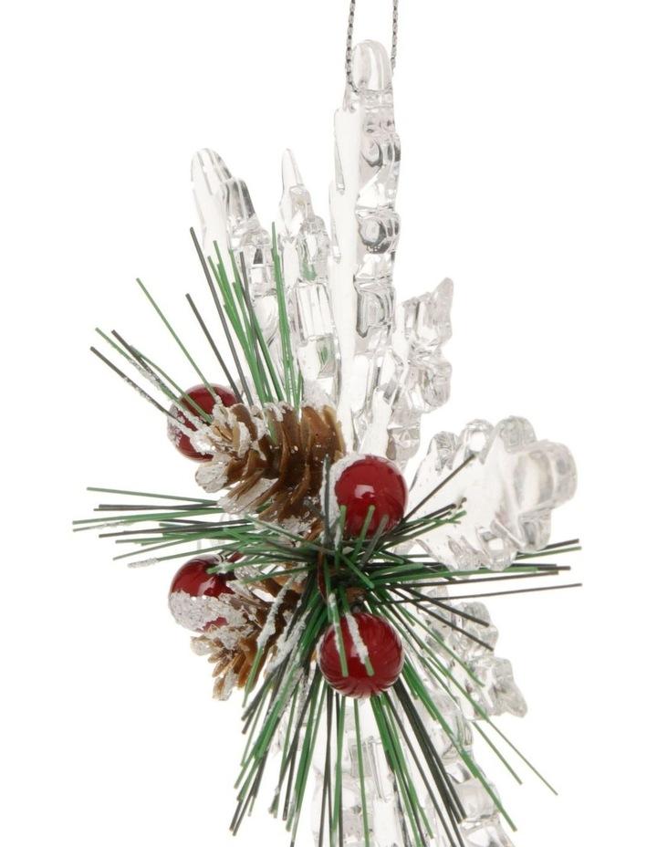 Hanging Heirloom Pine with Acrylic Snowflake image 2