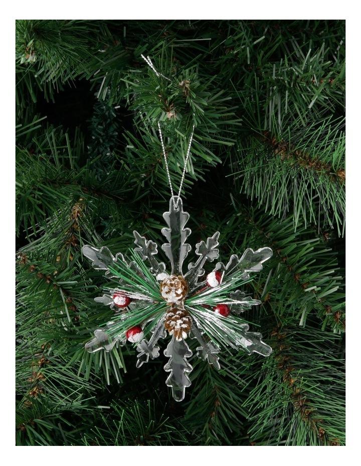 Hanging Heirloom Pine with Acrylic Snowflake image 3