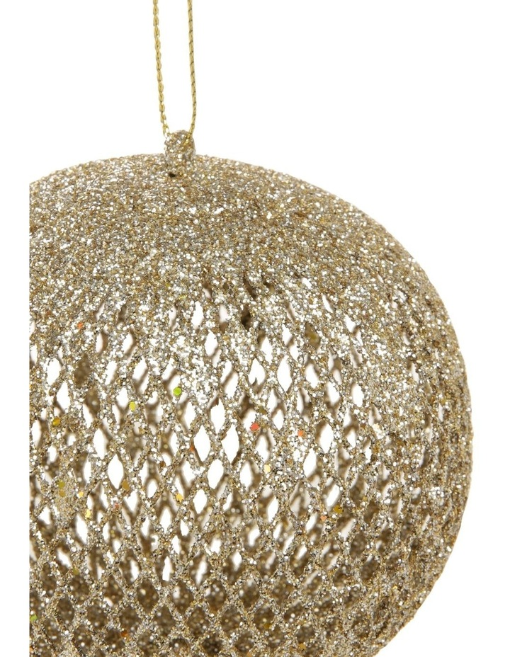 Luxe Assorted Glitter Mesh Bauble & Finial Ornament image 3