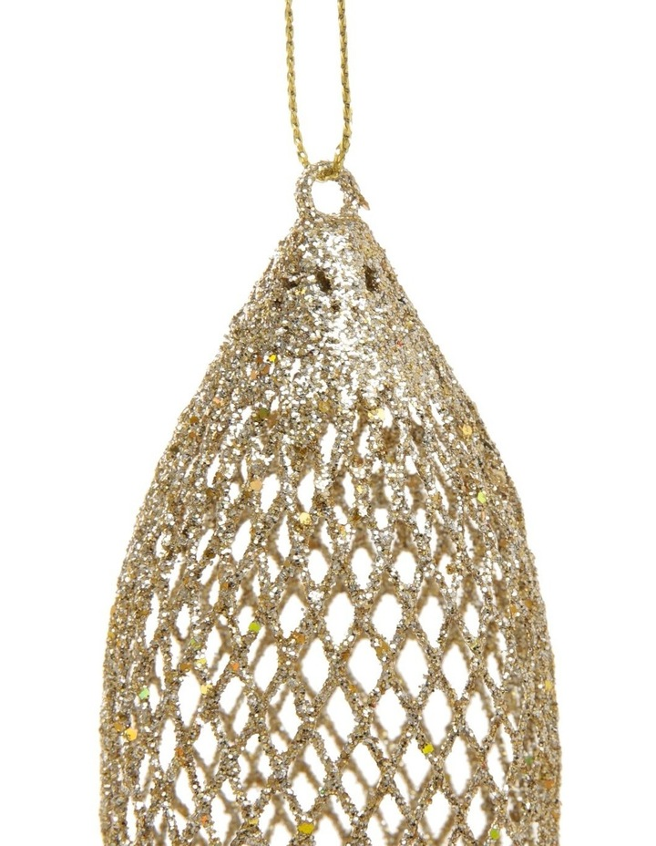 Luxe Assorted Glitter Mesh Bauble & Finial Ornament image 4