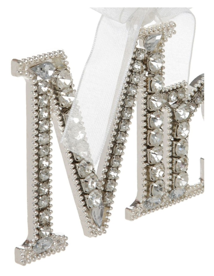 Luxe Silver Jewelled 'Mrs' Hanging Ornament image 3