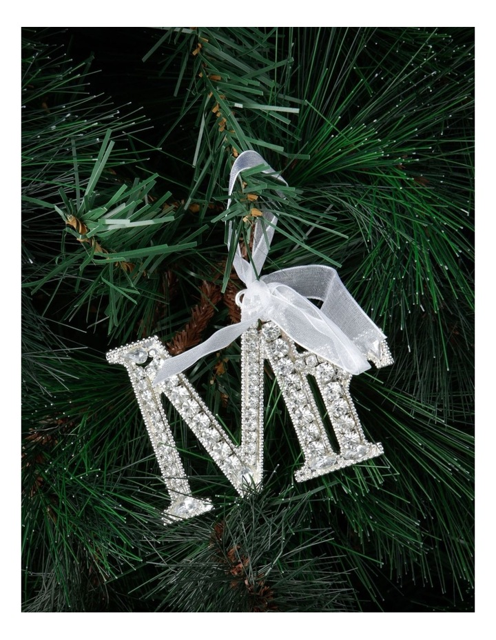 Luxe Silver Jewelled 'Mr' Hanging Ornament image 2