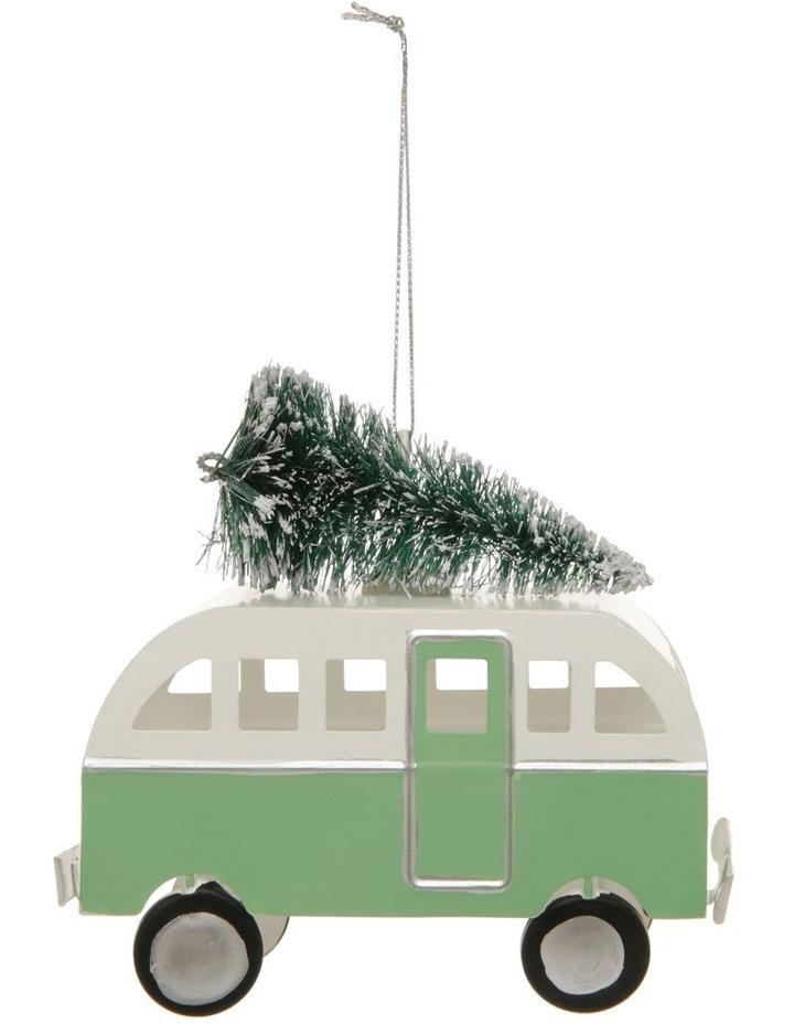 Eucalyptus Metal Bus with Tree Hanging Decoration- 10cm image 1