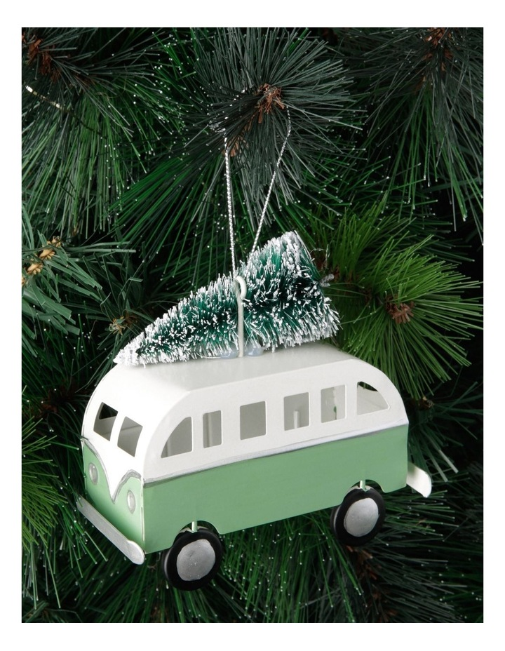 Eucalyptus Metal Bus with Tree Hanging Decoration- 10cm image 3