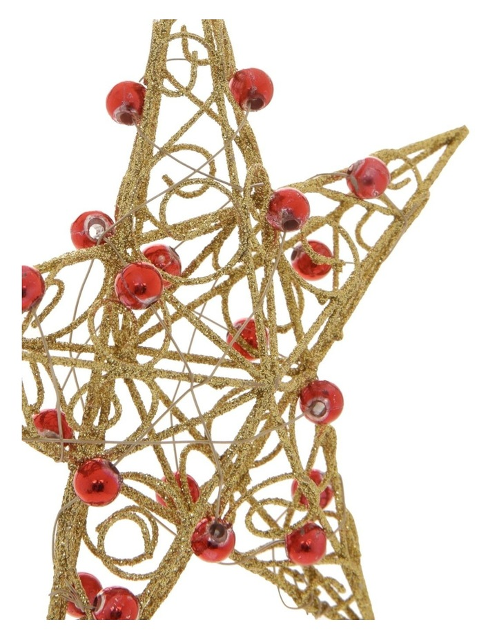 10 cm Heirloom Metal Wire & Beads Star Hanging Ornament image 2
