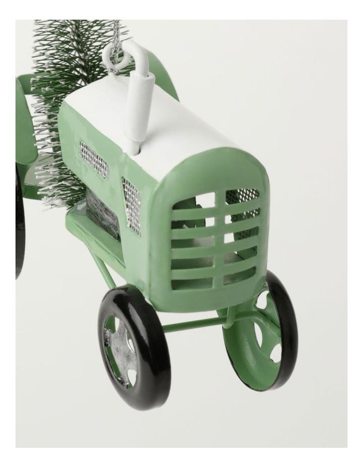Eucalyptus Metal Tractor w/Tree Ornament- Green: 7.5cm image 3