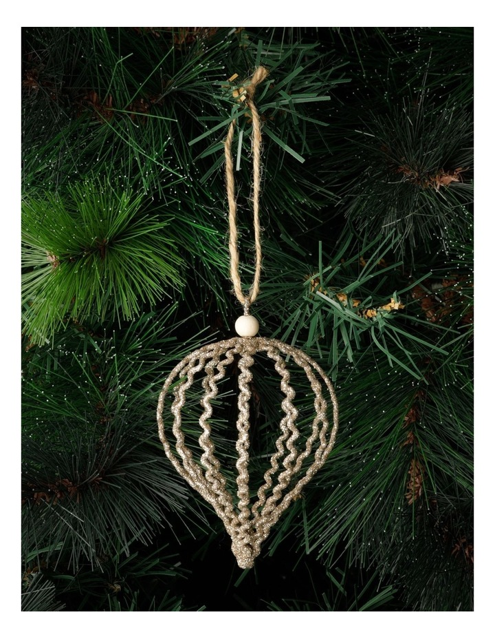 Eucalyptus Glittered Onion Wire Ornament- Gumnut: 12 cm image 1