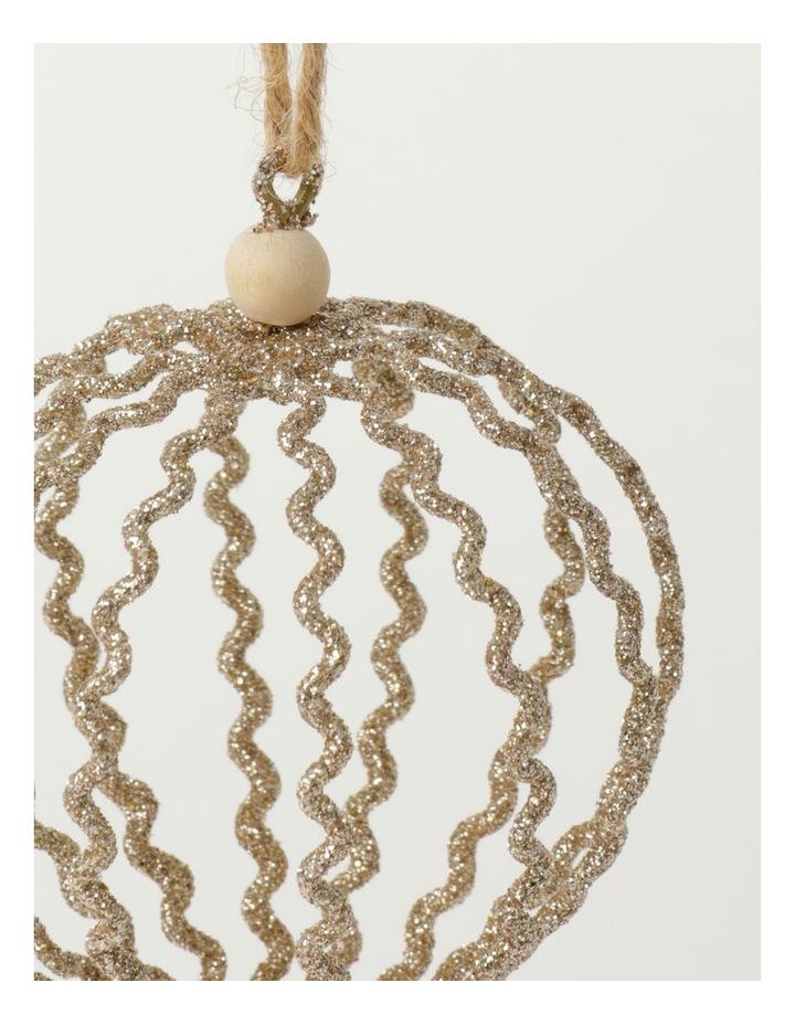 Eucalyptus Glittered Onion Wire Ornament- Gumnut: 12 cm image 3