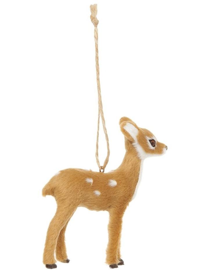 Eucalyptus Brown Faux-Fur Deer Ornament - Doe image 1