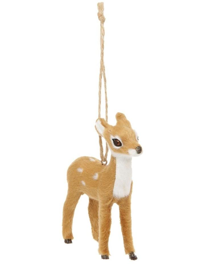 Eucalyptus Brown Faux-Fur Deer Ornament - Doe image 2