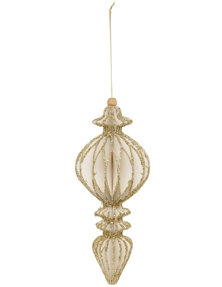 Luxe Geometric Finial Hanging Ornament image 1