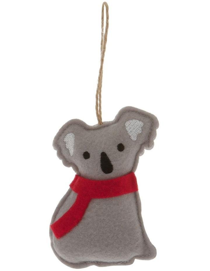 Eucalyptus Grey Stitched Fabric Koala Hanging Ornament image 1