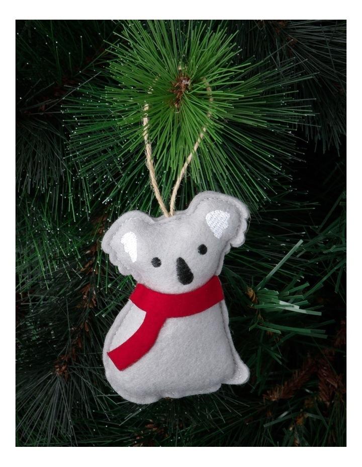 Eucalyptus Grey Stitched Fabric Koala Hanging Ornament image 2