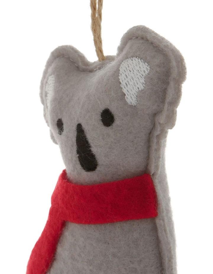 Eucalyptus Grey Stitched Fabric Koala Hanging Ornament image 3