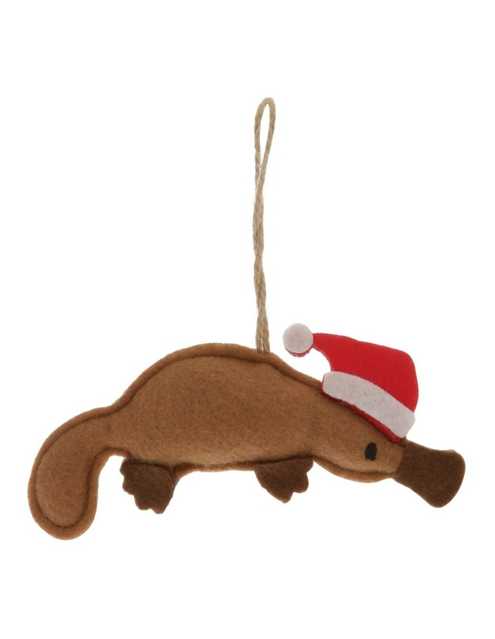 Eucalyptus Brown Stitched Fabric Platypus Hanging Ornament image 1