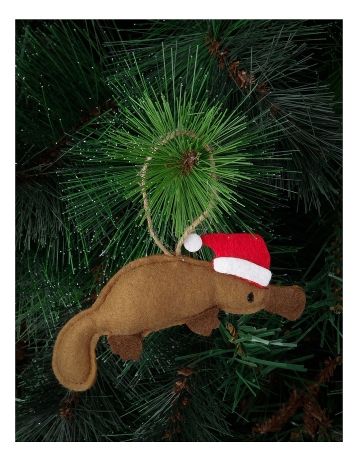 Eucalyptus Brown Stitched Fabric Platypus Hanging Ornament image 2
