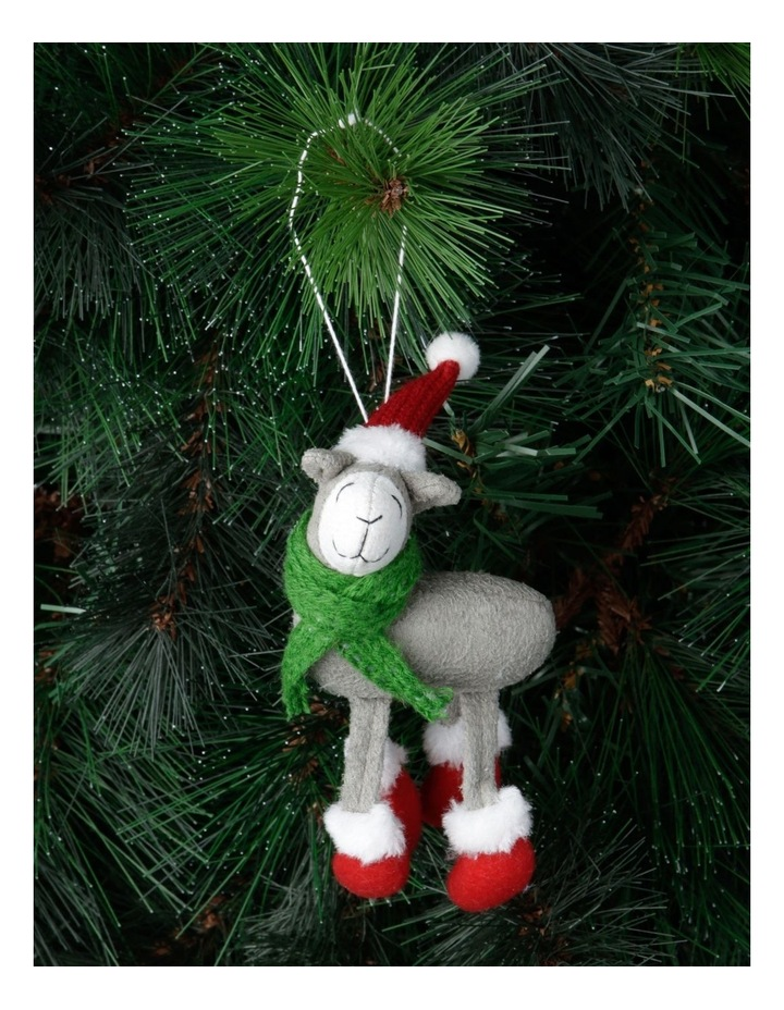 Eucalyptus Grey Lamb Ornament with Hat & Scarf image 2