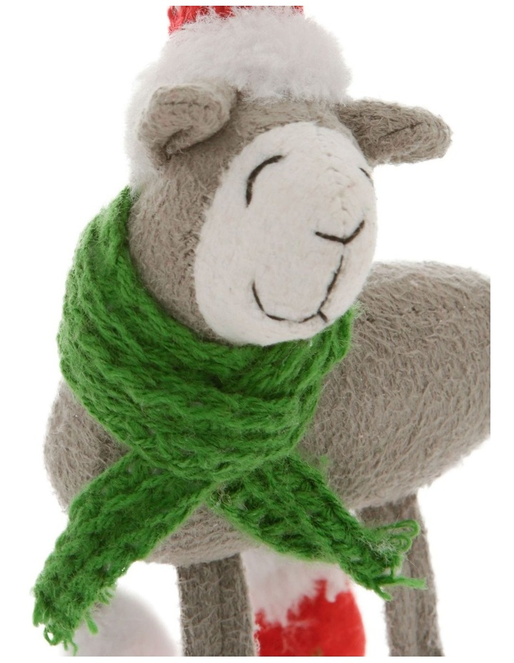 Eucalyptus Grey Lamb Ornament with Hat & Scarf image 3