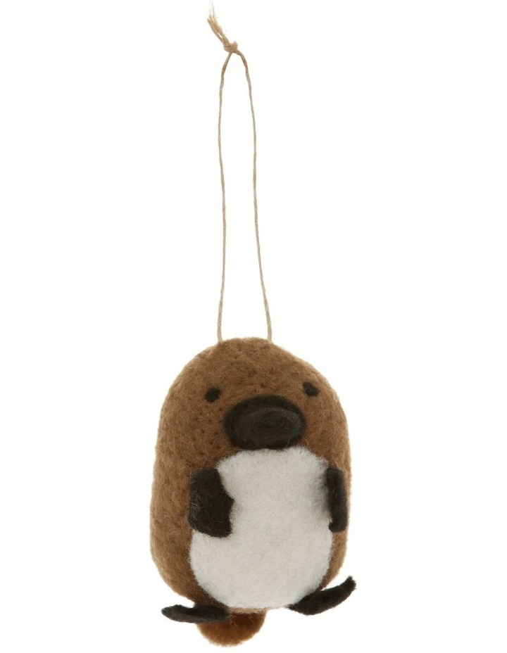 Eucalyptus Brown Felt Platypus Hanging Ornament image 1