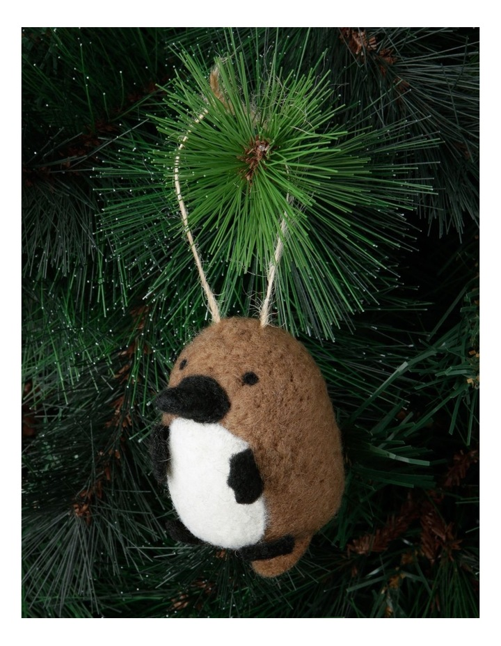 Eucalyptus Brown Felt Platypus Hanging Ornament image 2