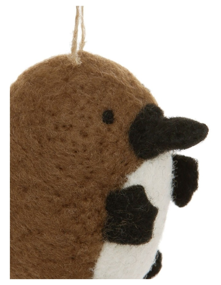 Eucalyptus Brown Felt Platypus Hanging Ornament image 3
