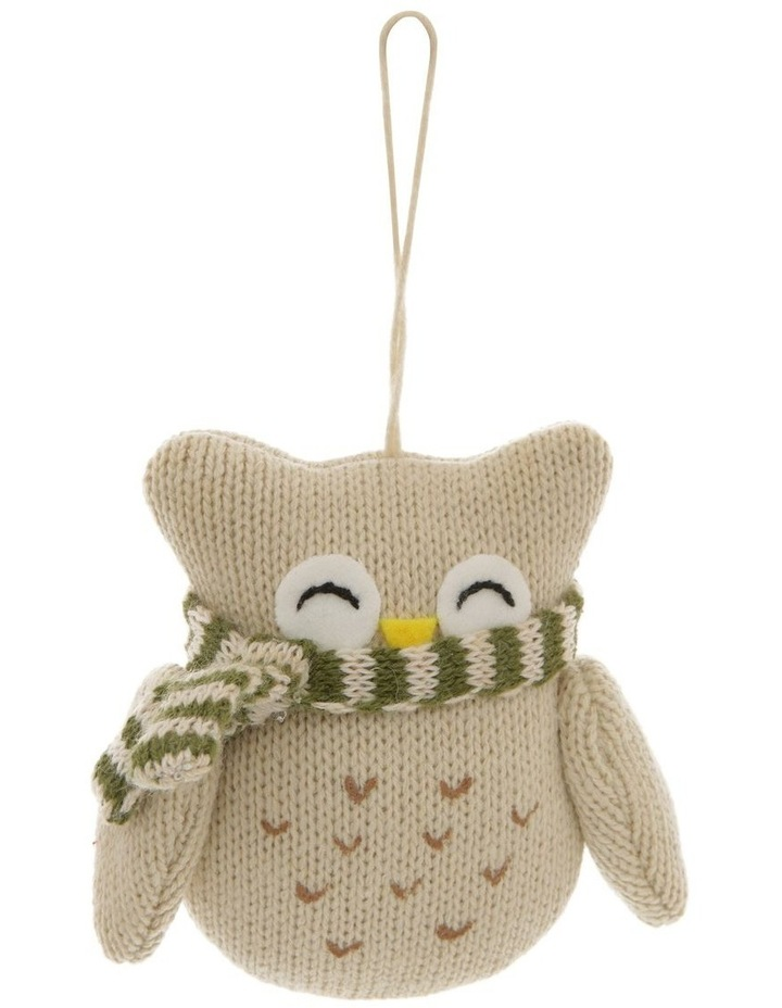 Eucalyptus Fabric Knitted Owl Hanging Ornament image 1