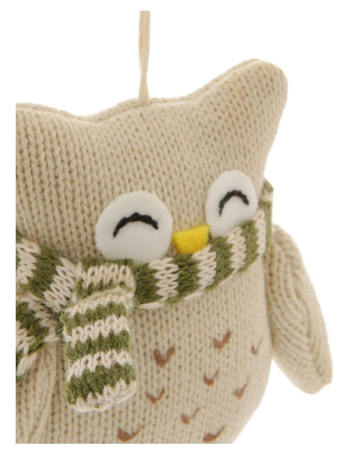 Eucalyptus Fabric Knitted Owl Hanging Ornament image 2