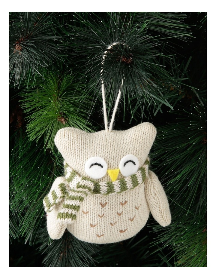Eucalyptus Fabric Knitted Owl Hanging Ornament image 3
