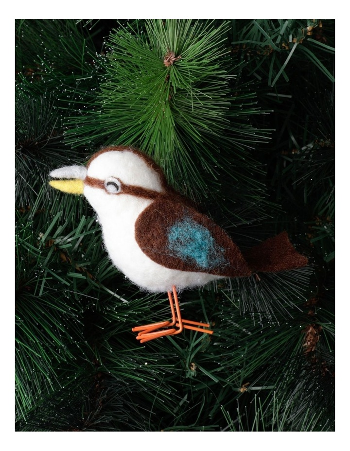 Eucalyptus Felt Kookaburra Bird  Ornament- Brown: 10cm image 1