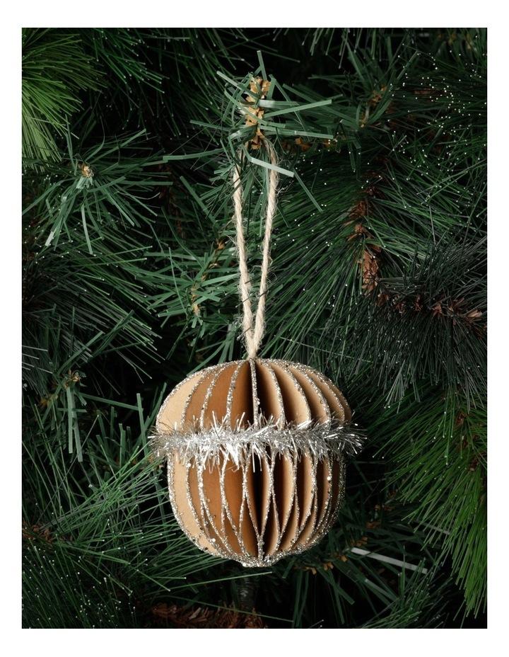 Eucalyptus Paper Acorn Ornament- Brown: 8cm image 1