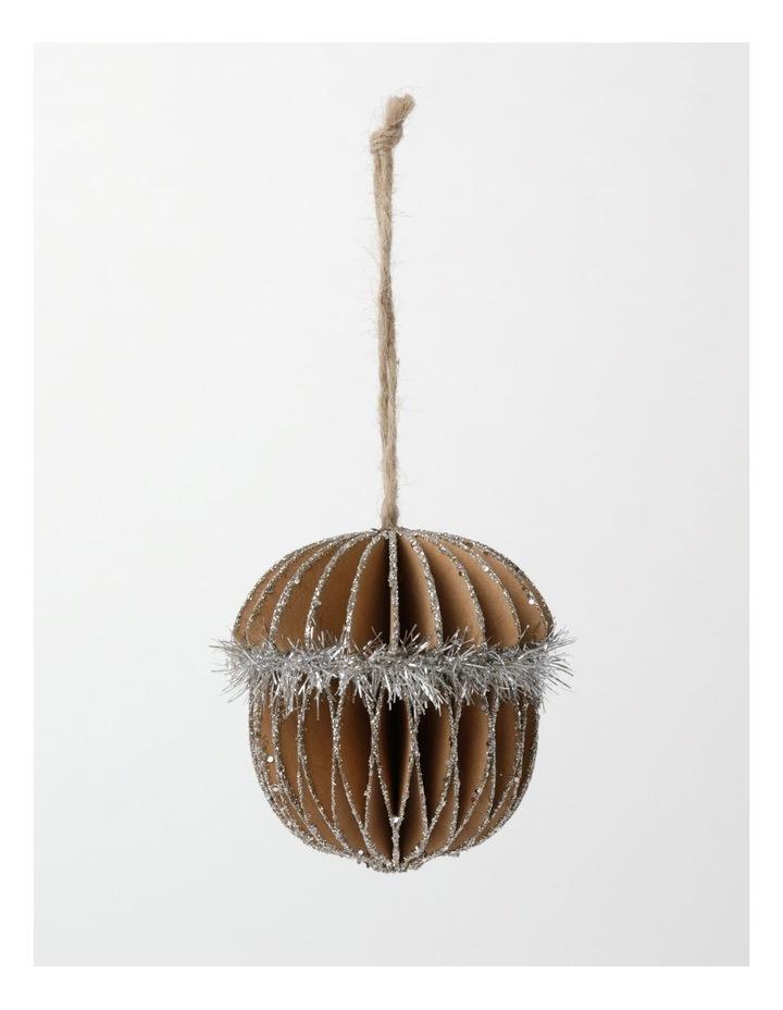 Eucalyptus Paper Acorn Ornament- Brown: 8cm image 2