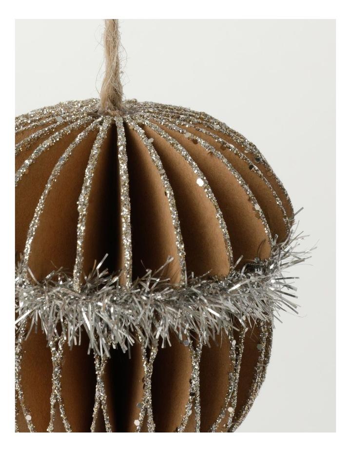 Eucalyptus Paper Acorn Ornament- Brown: 8cm image 3