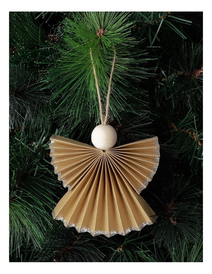 Eucalyptus Paper Angel Ornament- Brown: 10cm image 1