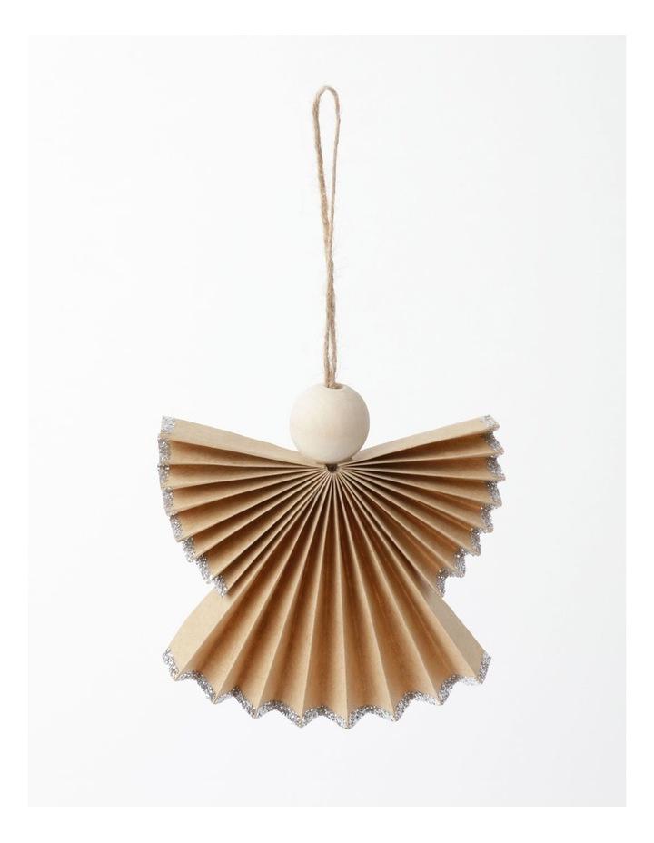 Eucalyptus Paper Angel Ornament- Brown: 10cm image 2