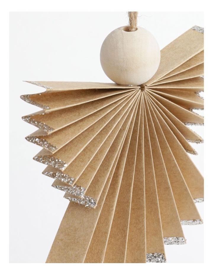 Eucalyptus Paper Angel Ornament- Brown: 10cm image 3
