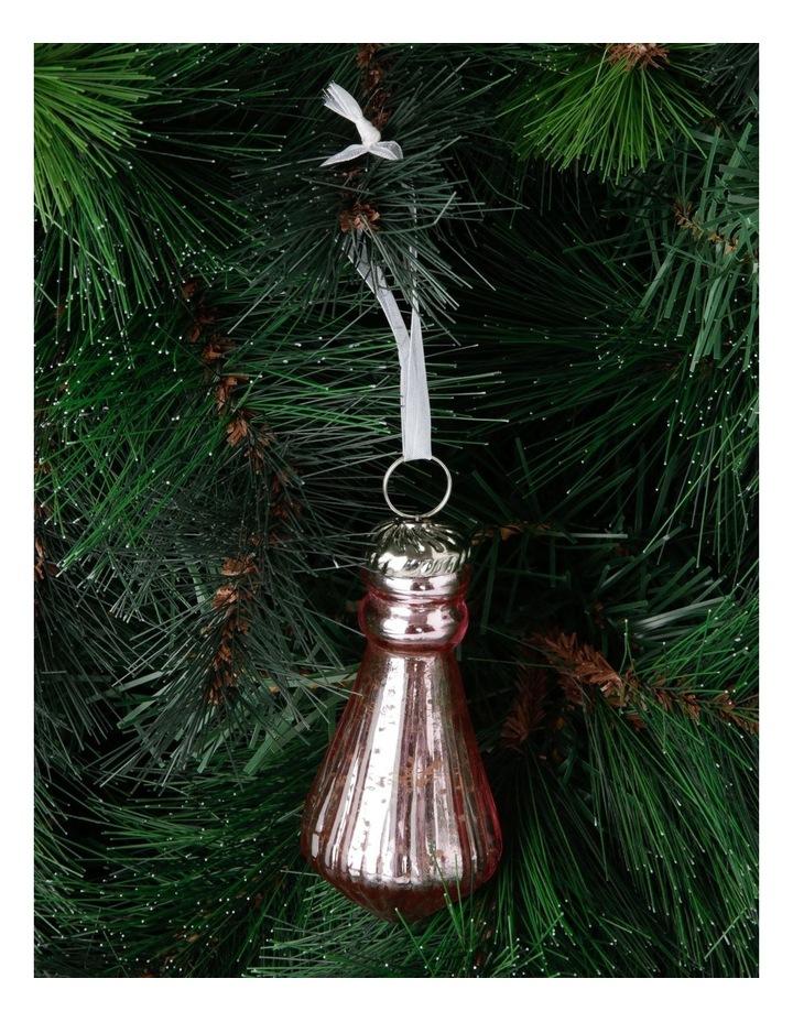 Luxe Mercurised Teardrop Pendant Ornament image 3