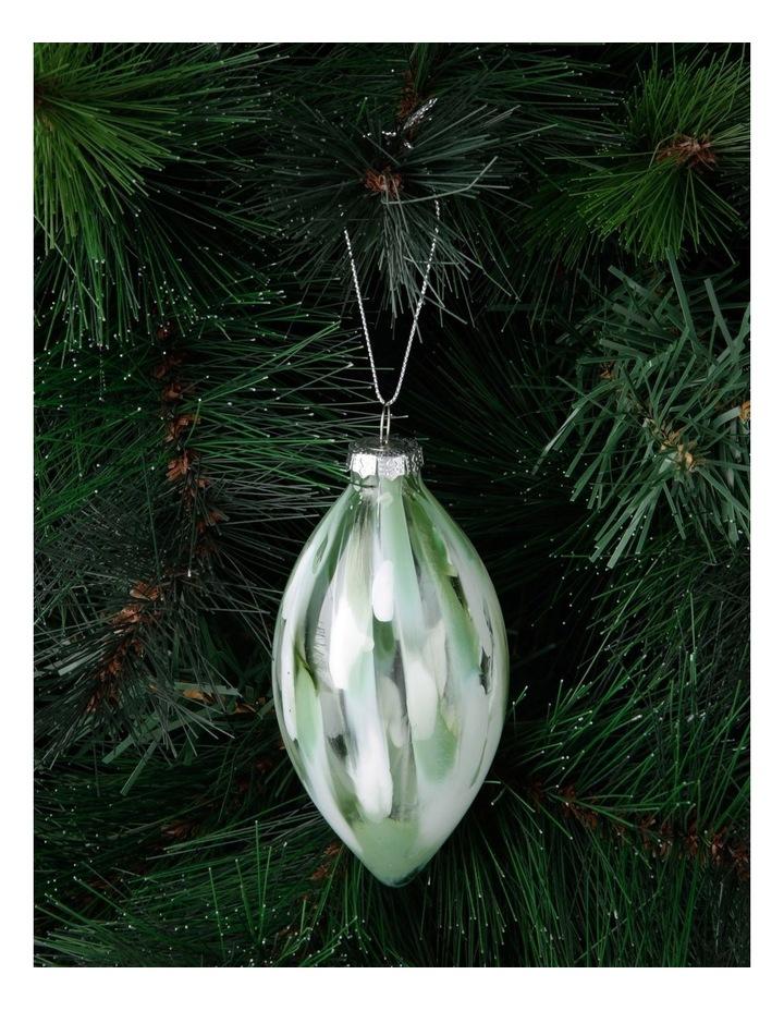 Eucalyptus Brushed Glass Finial Hanging Ornament image 3