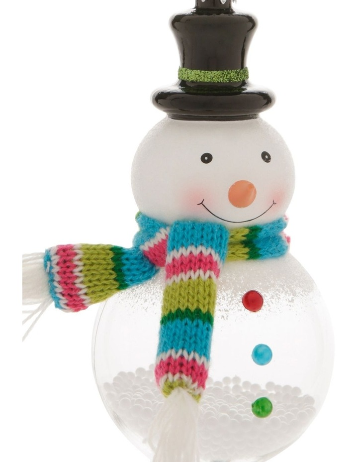 Merry & Bright Snowman with Scarf Hanging Ornament image 2