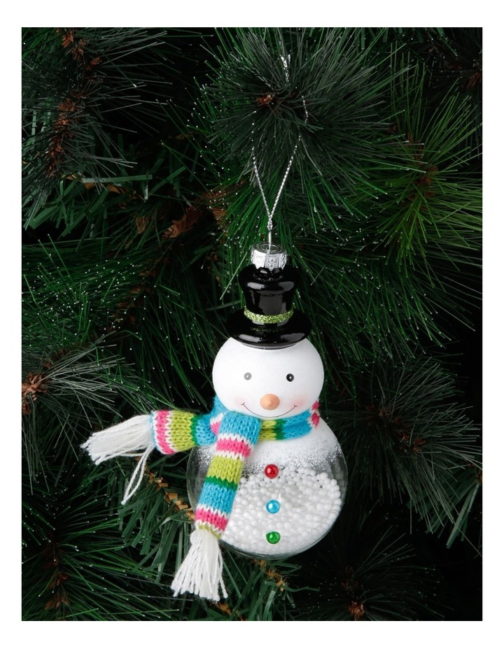 Merry & Bright Snowman with Scarf Hanging Ornament image 3