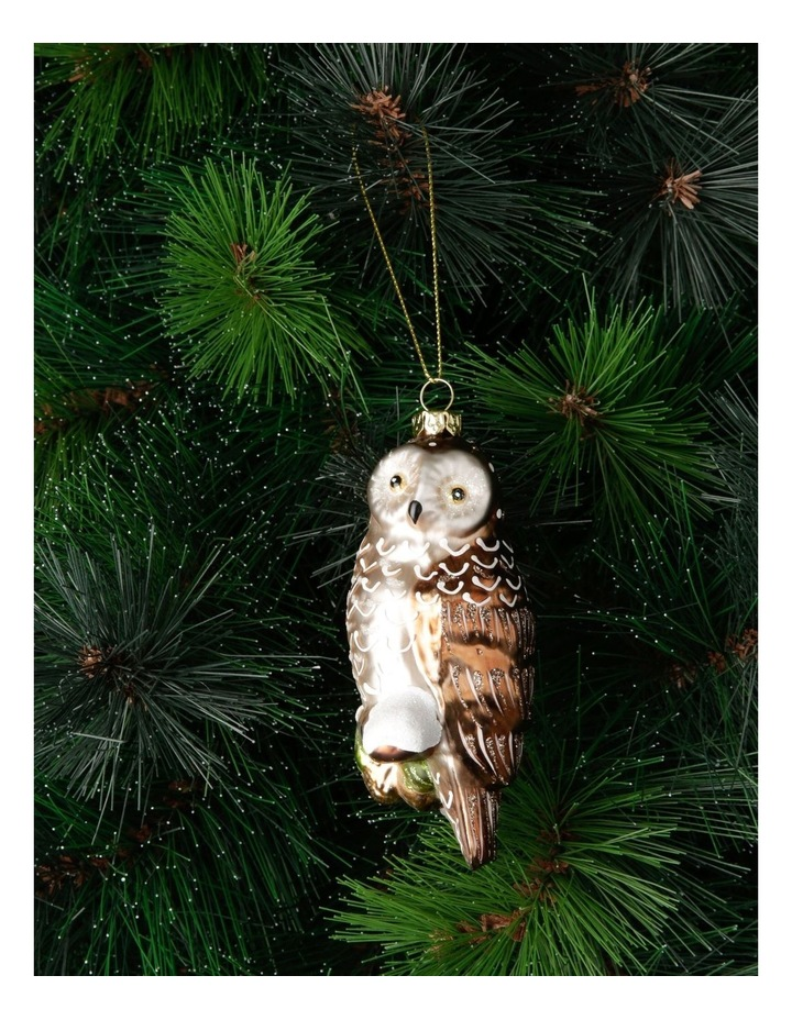 Heirloom Woodland Owl Hanging Ornament image 3
