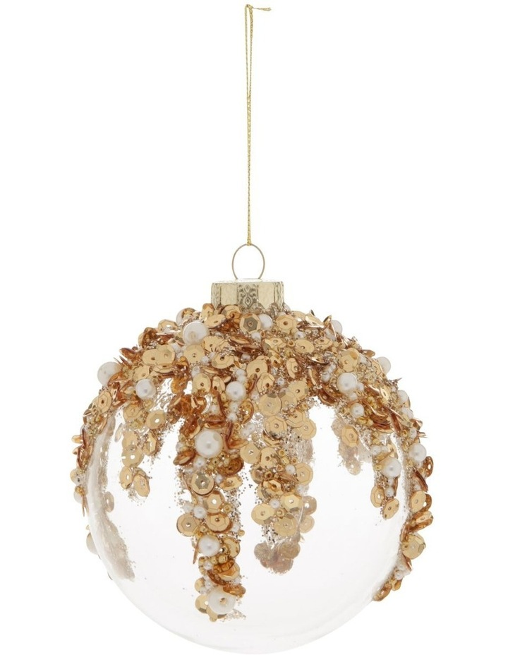 Luxe Dripping Sequin, Beads & Pearls Bauble image 1