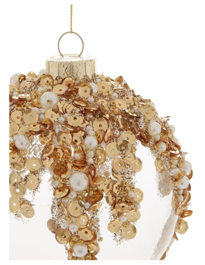 Luxe Dripping Sequin, Beads & Pearls Bauble image 2