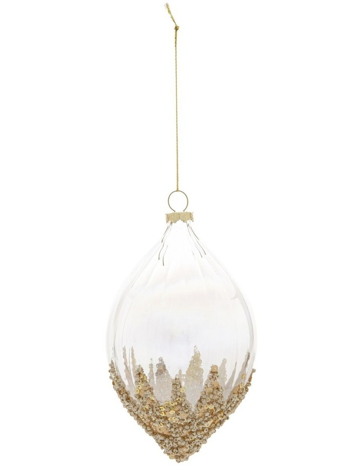 Luxe Dripping Sequin & Bead Teardrop Hanging Ornament image 1