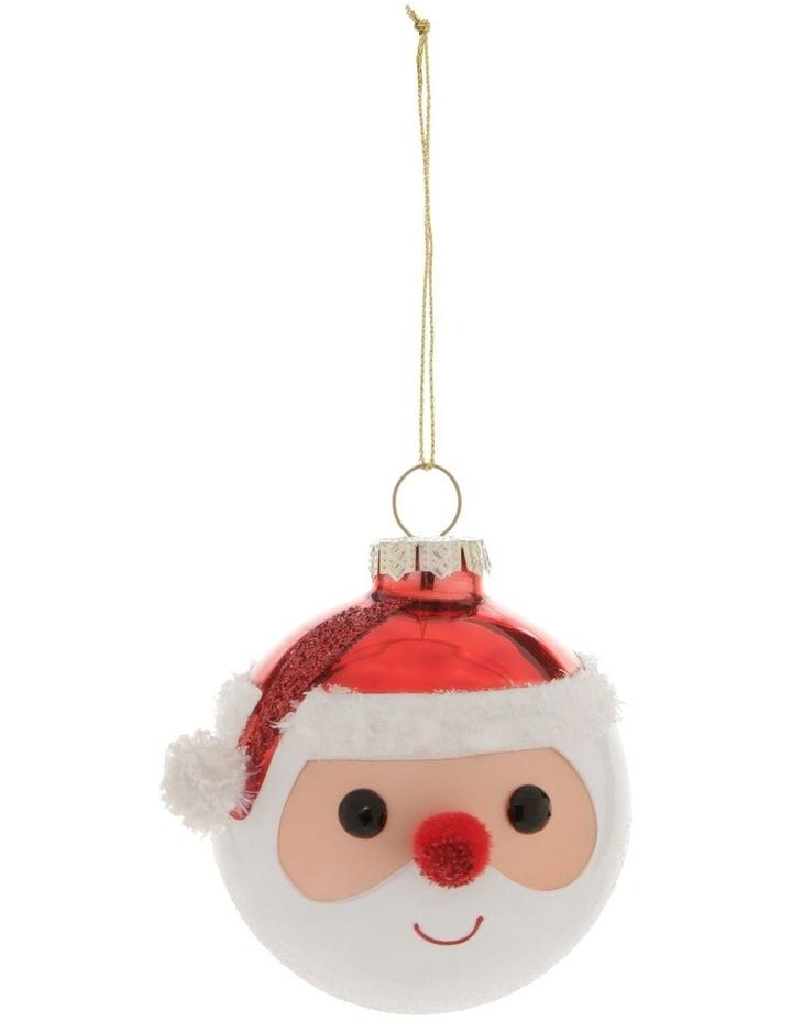 Merry & Bright Santa Face Hanging Ornament image 1