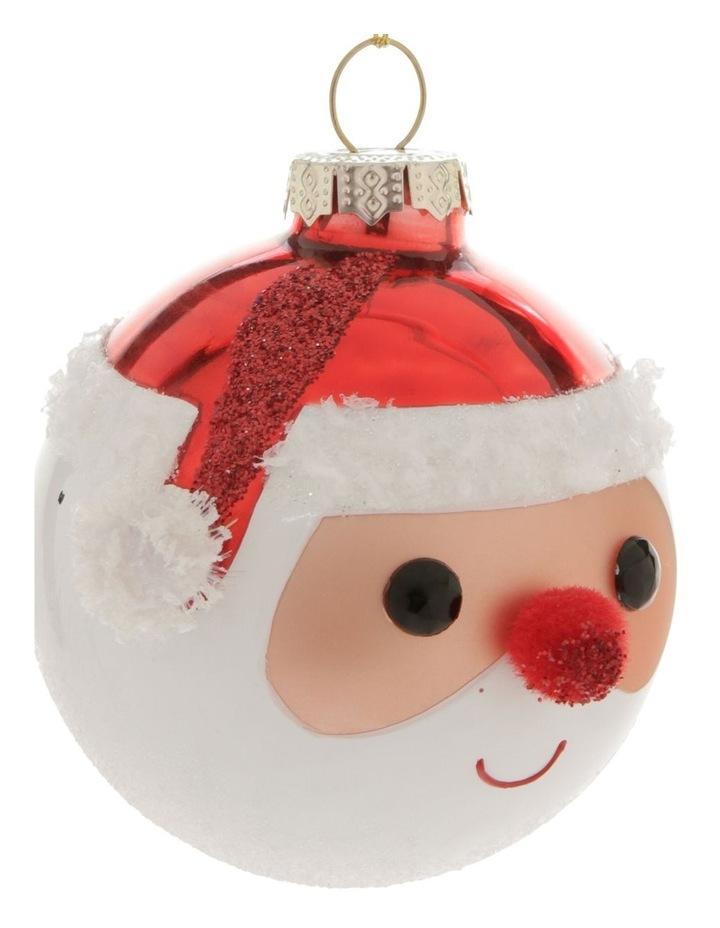 Merry & Bright Santa Face Hanging Ornament image 2