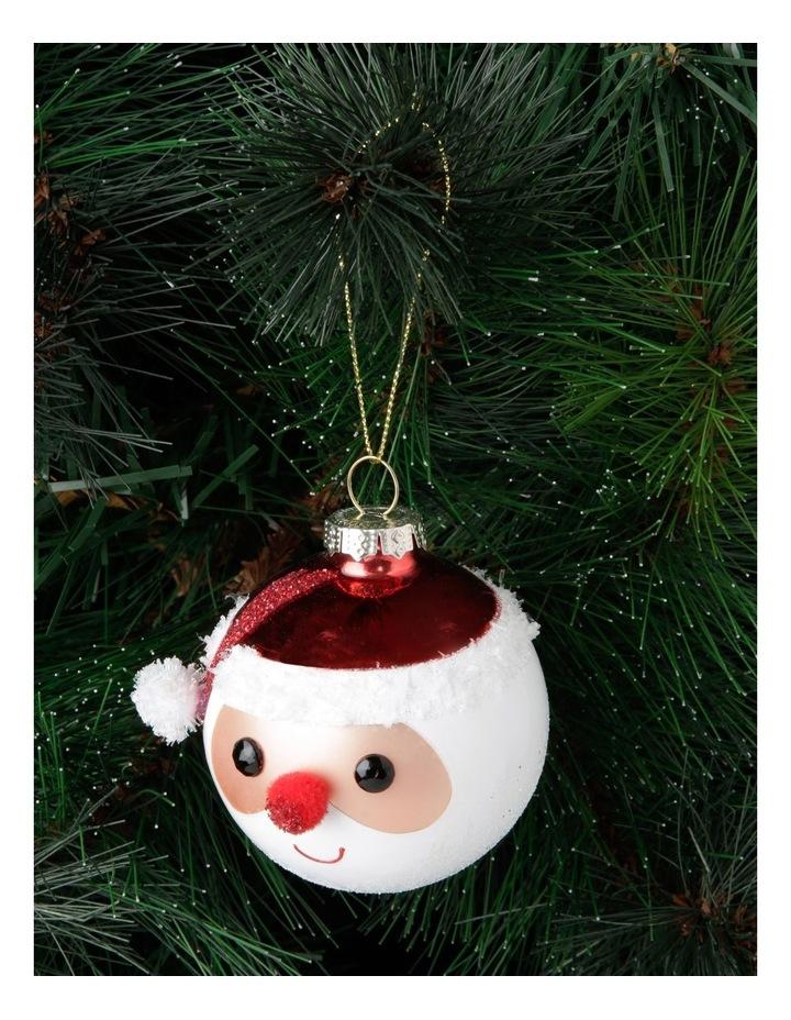 Merry & Bright Santa Face Hanging Ornament image 3