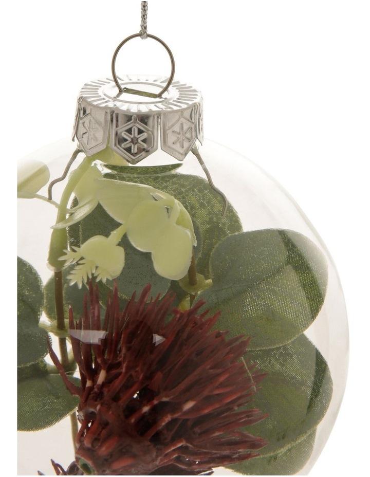 8cm Eucalyptus Glass Faux Flowering Gum-Nut Filled Bauble Ornament image 2